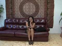 Wool Glazed Asian MILF Lucky Takes A Sparkle From FAT SEIZED HARD-ON Z!