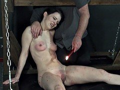 Electro tortured teen painslut Kamis extreme bdsm and scream