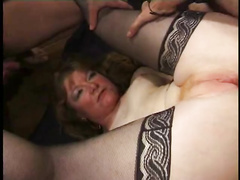 Martine mature ass fucking boinked in pantyhose
