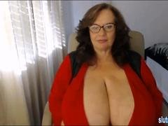 Enormous Huge Big Natural Tits  Sexy Babe Home Alone