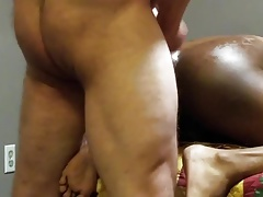 White Boy BareFucks His Black Bitch
