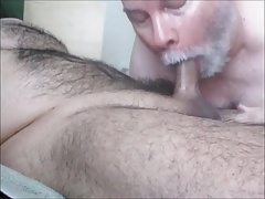 Hairy, Horny Latino Receives Deep Throat, Edging.