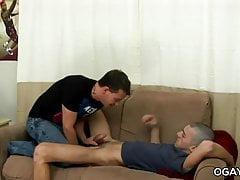 Young gays dildo fun