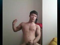 Korea big dick  red clothes boy