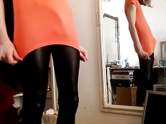 tight shiny spandex lycra leggings