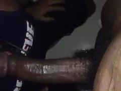 Throating black huge