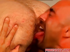 Shaved head gay hunks rough and raw anal fucking