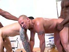 A homo Interracial slam Scene