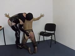 Sub faggot dominated by TS