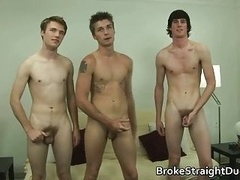 Girl/guy guys Ashton, Daniel, & Jase in xxx man-loving threesome 2