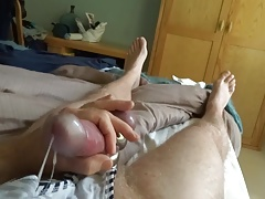 Wank on my wife's panties slow motion
