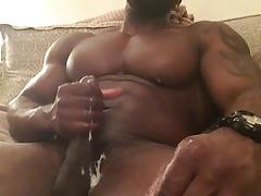 Muscle God Parker Jerks Off & Cums a Huge Load