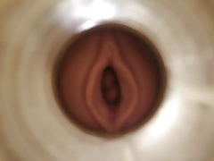 spooning pink LADY by cum cam man