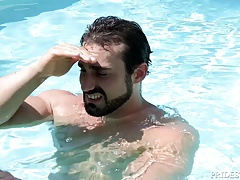 DylanLucas Hot Daddy Eats Young Ass in The Pool