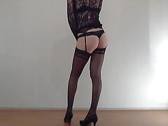 CD - strip sexy legs high heels stockings