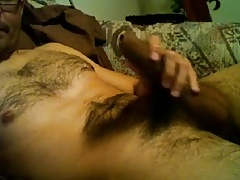 HAIRY UNCUT LATINO DICK PLAY CUMS INSIDE FORESKIN
