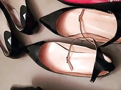 Cum in my wife's ballet flats