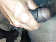 Black pantyhose jacking off part 1