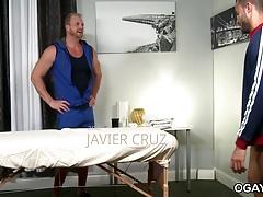 Swim Team Massage - Javier Cruz, Josh Peters