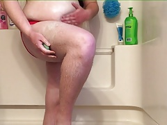 Chub showers in speedo 4-1-17