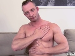 Gay hunk Paul blows and gets his butt drilled deep in bareback scene