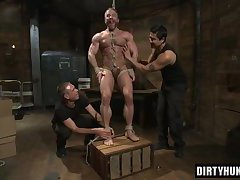 Muscle gay foot fetish and cumshot