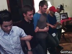 Group hazing gay orgy