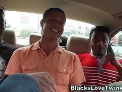 Stud rides black cocks