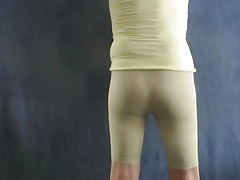 My sissy ass in skin-tight spandex