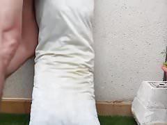 Pillow piss humping cum again
