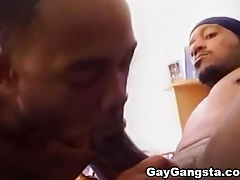 Hardcore Threesome of Horny Ghetto Gays