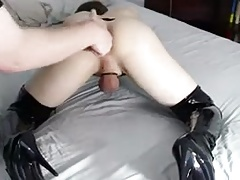 sissy get fingered and milked