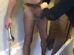 taking my bath