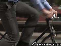 FalconStudios JJ Knight helps Injured Biker with Cock
