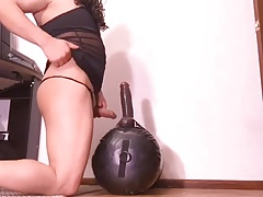 Mya Tranny and dildo
