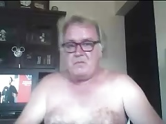 Dad Plays Naked on Cam