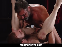 MormonBoyz - Sexy daddy priest punish fucks his subordinate