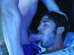 Muscle fellas fuck on van