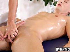 Big cock gay oral sex and massage