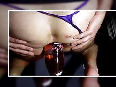 Fully Filled, glas, bottle, insertion, huge