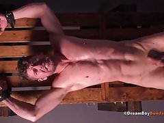 Gay Muscle Bondage Twinks Take Intense Whipping BDSM Hung