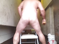 Joey D quick sweet juicy butt anal dildo