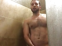 Hot hairy shower jerk