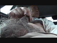 Old man erect cock exposure outdoor