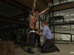 A poofter gets his mouth and ass slammed in amazing BDSM video