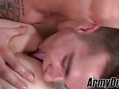 Tattooed homo Ryan Jordan fucking Princeton Price in the ass