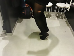 Black Patent Pumps with Pantyhose Teaser 20