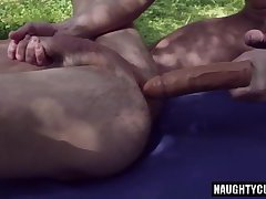 Russian gays gaping and cumshot