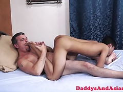 Dicksucked daddy banging pinoys tight hole