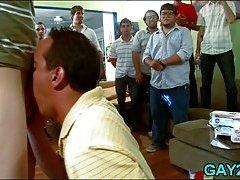 Tongue and gay cock massage